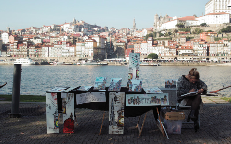 Rundreise durch Portugal – Porto Hafen
