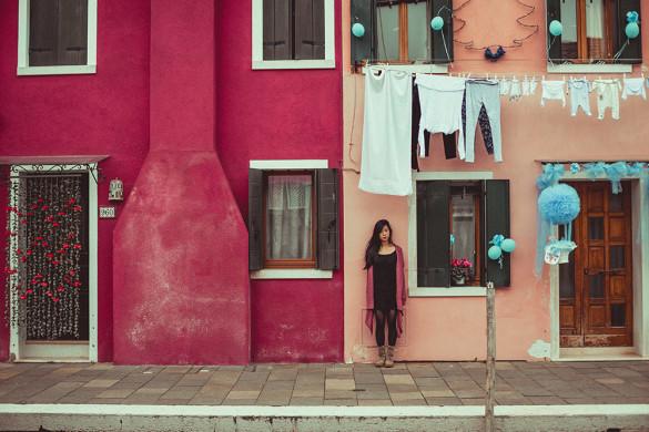 Insel Burano - bunte Häuser