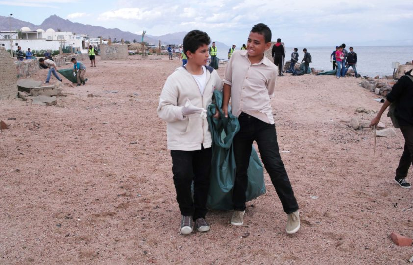 Sustainable Tourism Beach Clean up in Dahab