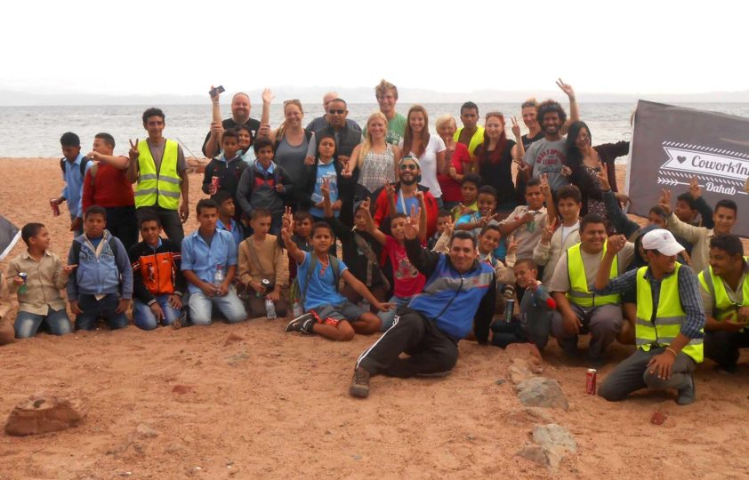 Sustainable Toursim Successful Beach Clean Up in Dahab